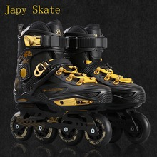 Japy Skate Badao Inline Skates Professional Slalom Adult Roller Skating Shoes Sliding Free Skating Good As SEBA Patines Adulto(China)