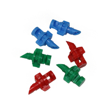 200 Pcs Green 180 Degrees/red 360 Degrees Nozzle For Cloning Machine Hydroponic Garden Irrigation Systems Simple Refraction(China)