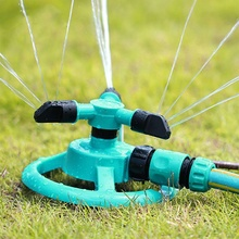 Home Garden Greenhouse Three Arm Automatic 360 Degree Rotary Spray Head Garden Lawn Sprinkler Irrigation Watering Supplies