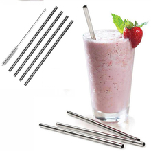 4 Stainless Steel Drinking Straws+Cleaner Brush Reusable Bendy Metal Kitchen Hot Dishwasher Safe and Reusable