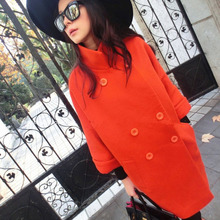 Buy Women Warm Orange Basic Coats 2017 Fashion Female Wool Medium-Long Lady's Winter Jacket Women Woolen Outerwear Casaco Feminino for $17.95 in AliExpress store
