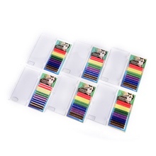 New 12Rows/Set Mixed Rainbow Color Eyelash Extension High Quality Colorful Eyelashes Makeup Tools