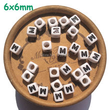 6*6MM 2600pcs Acrylic Cube Alphabet Letter A B C D E F G H I J K L M N O P Q R Beads Bulk Jewelry Alphabets Factory Direct Sell.(China)