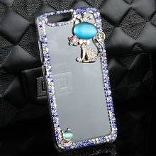 Hot Selling Cat Pattern Diamond Case Cover for Huawei P8 Lite/2017 P9 Lite P9 P10 Y5 II Honor 8/Lite Nova Mate 8 Y3 II P8 Case