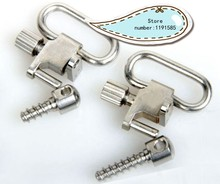 "Silver Color QD Swivels Wood Screw 1311-2 for 1"" Slings Bolt Mount Action Rifle Plated(China)"