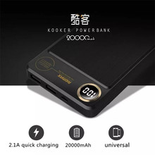 Remax high-capacity 20000mAh power bank dual usb fast phone charger portable battery external charger rpp-59 Digital display(China)
