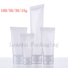 squeeze plastic bottle, shampoo lotion tube packaging,container,15 30 50 100 ml natural frosted soft lotion cosmetics tube