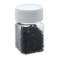 500pcs Black Silicone Micro Link Beads Rings for Feather Hair Extensions