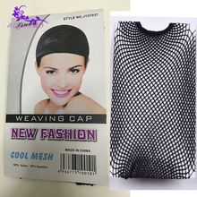 Hot Selling Nylon Hairnets 1-10Pcs/Lot Mesh Weaving Cap Net For Wig Making Free Size Good Quality Stretchable Elastic Hair Net(China)