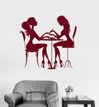 Beauty Salon Nail Vinyl Wall Stickers Hair Spa for Woman Girl Wall Sticker Hot DIY Art Wallpaper Perfect Quality Mural  SA272