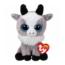 "Pyoopeo Ty Beanie Boos 6"" 15cm Gabby the Goat Plush Stuffed Collectible Big Eyes Doll Toy"