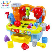 HUILE TOYS 907 Baby Toys Workshop Brinquedos Bebe Juguettes Infant Sounding Tools Kids Early Learning Games Toy Xmas Gifts(China)
