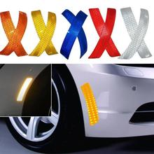 2Pcs Car Wheel Rim Eyebrow Reflective Warning Strip Stickers Safety Warning Light Reflector Protective Sticker Car Styling