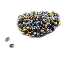 Hot new 5x2.5mm Luster Czech Glass Seed Beads Two Hole  240pcs  Colorful