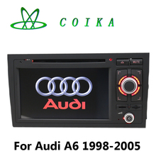 Quad Core Android 6.0 Head Unit DVD For Audi A6 1998-2005 Radio RDS GPS Navi Receiver BT WIFI 3G 1024*600 WIFI 3G Google 3D Map