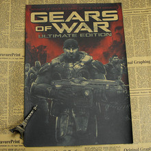 War Machine 2 3 4 Game Poster Peripheral Vintage Kraft Decorative Painting Internet Bar Gears of War