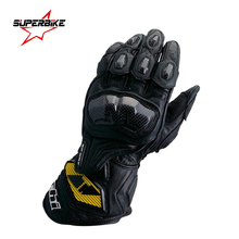 Motorcycle Gloves GP PRO Men Real Leather Long Glove Motocross Protect Gear Cycling Racing Moto Motorbike Luvas Guantes de moto