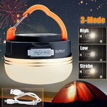 Lightweight 300LM 3W Magnetic CREE LED USB Rechargeable Camping Outdoor Light Lantern Tent Lamp 6 hours With Flexible Handle