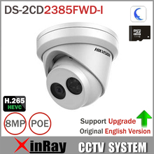 Hikvision 8MP IP Camera DS-2CD2385FWD-I Network Turret Camera H.265 Updatable CCTV Security Camera With SD Card Slot(China)
