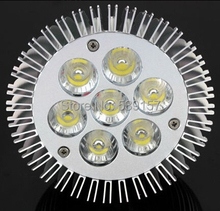 Free shipping high lumen CRI >85% dimmable 7W par30 lamp 110v 220V 240V 7X1W E27 COB Par30 LED Spotlight(China)