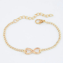 Fashion Pulseras Bijoux 2018 New Women 8 Infinity Bracelet For Men Jewelry Girl Gift Charm Bracelets Bangles pulseiras(China)