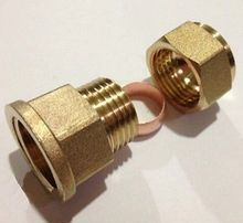 "1/2"" BSP Female Thread Brass Fit 15mm OD Tube Coupler Adapter Connector Compression fitting For Tubing"