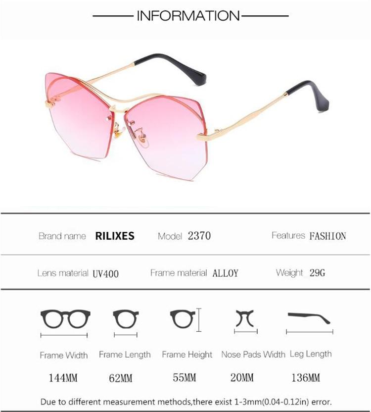 Sunglasses Women Eyeglasses Fashion Cutting Designer Frame Double-Bridge Vintage Ladies Sunglasses Gafas Oculos