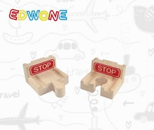 wooden stop Railway Pack fit Thomas and Brio Wooden Train Educational Boy/ Kids Toy Christmas Gift