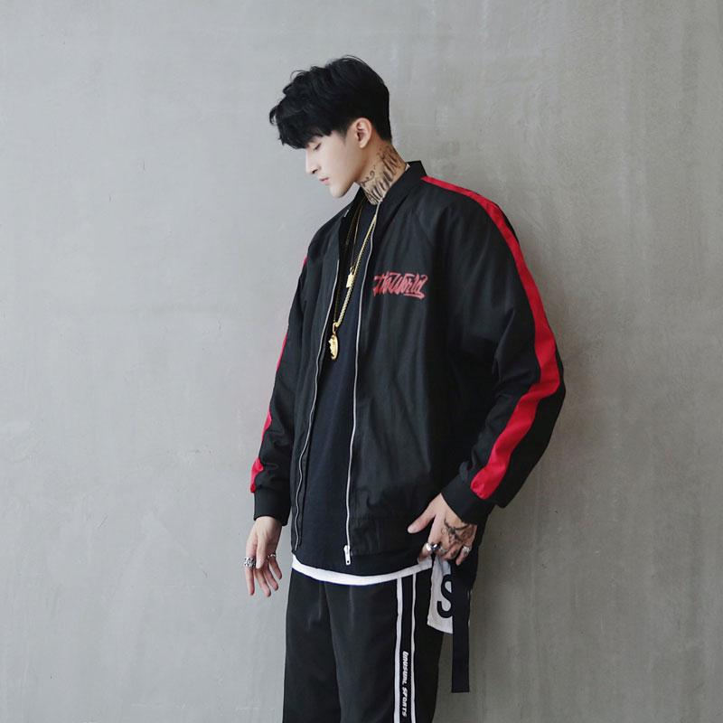 Bomber Jacket Men Pilot Printed Streetwear  (6)
