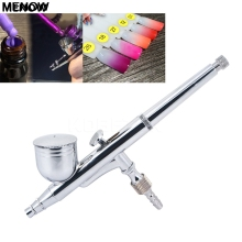 MENOW 0.2 mm Dual Action Airbrush Multi Function Air Brush Kit Spray Gun For Nail Art/body Tattoos Spray/ Cake/ Toy Models(China)