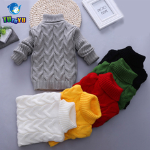 TUTUYU Children Baby Boys Sweater Turtleneck Sweater Tiny Cottons Girls Sweater Winter Children Clothing Kid Knitted Pullover(China)