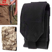 hacrin Outdoor Universal Phone Camouflage Bag <5.5inch Sport Pouch Belt Hook Holster Waist Case For Doogee T5 Blackview BV6000(China)