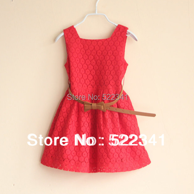 Baby girl cute dresses summer fashion new style Europe and America lace vest dress sundress girls children kids princess dress<br><br>Aliexpress