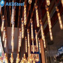 AKDSteel Vintage Edison Bulb E27 8W Tubular Nostalgic Filament Incandescent Antique Light Bulb Home Lamp Fixtures Industry Style(China)