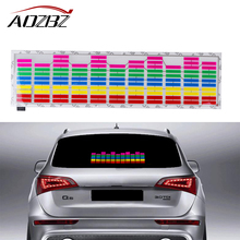 45*11cm Car Sticker Music Rhythm LED Flash Light Lamp Sound Activated Equalizer Rear Window Sticker Cars Decoration