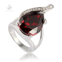 Red Cubic Zirconia beautiful Silver Plated Cute Ring R842 sz# 6 7 8 9 Fashion Jewelry First class products Recommend Promotion