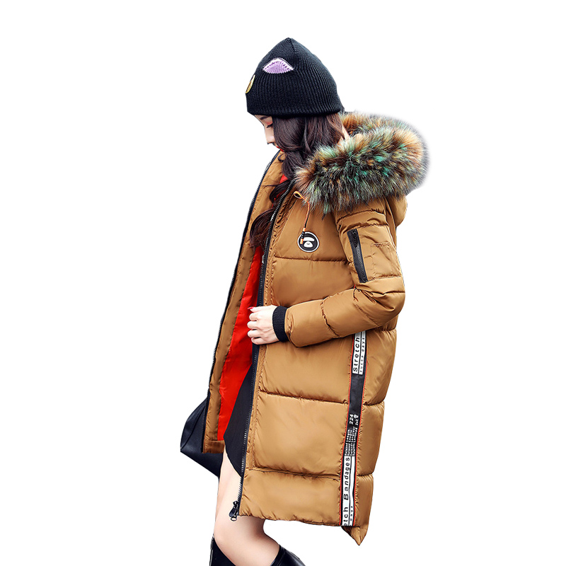 Winter Jacket Women 2017 Fshion New Thick Long Fur Collar Hooded Jacket Parka Female Wadded Jacket Warm Winter Coat Women HotÎäåæäà è àêñåññóàðû<br><br>