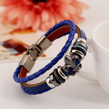 Vintage Gift Cool Punk Men Women Wooden Bead+Black Charm Design Jewelry The Latest New Classic Style Popular Hot