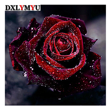 needlework 3d diy diamond painting flower picture of embroidery 5d cross stitch kits home decor violet rose diamond mosaic