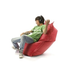 Cover only  No Filler - 	red , brown, black children slide bean bag chair, outdoor beanbag sofa seat