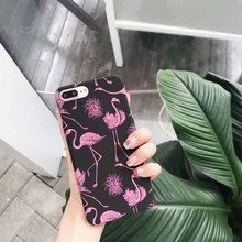 JiBan New Summer Flamingo Case For iphone7 7Plus  Matte Couple Models Protective cover 6 / 6s / plus