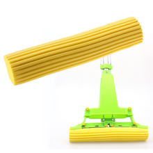 ASLT Free Shipping 2pcs Household Sponge Mop Head Refill Replacement Home Floor Cleaning Tool