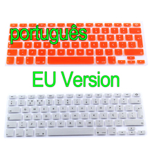 "Portuguese for Apple Macbook Keyboard Cover 13"" 15"" 17"" Rainbow Laptop Keyboard Stickers EU Version Silicone Protector Covers"