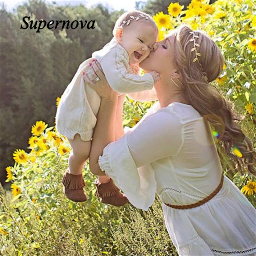 Adults And Baby Gilding Elastic Cloth Headwear hair accessories baby headband cute hair band newborn floral headband WJul27<br><br>Aliexpress