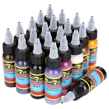 21 Colors 30ml  Tattoo Ink Pigment KitBottle Lasting Complete Professional  High Quality Body Tattoo Art Colors Body Art Tattoo