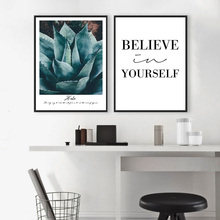 Aloe Vera Plant Art Canvas Poster Inspirational Life Quote Prints Wall Picture Nordic Style Modern Home Wall Decoration(China)