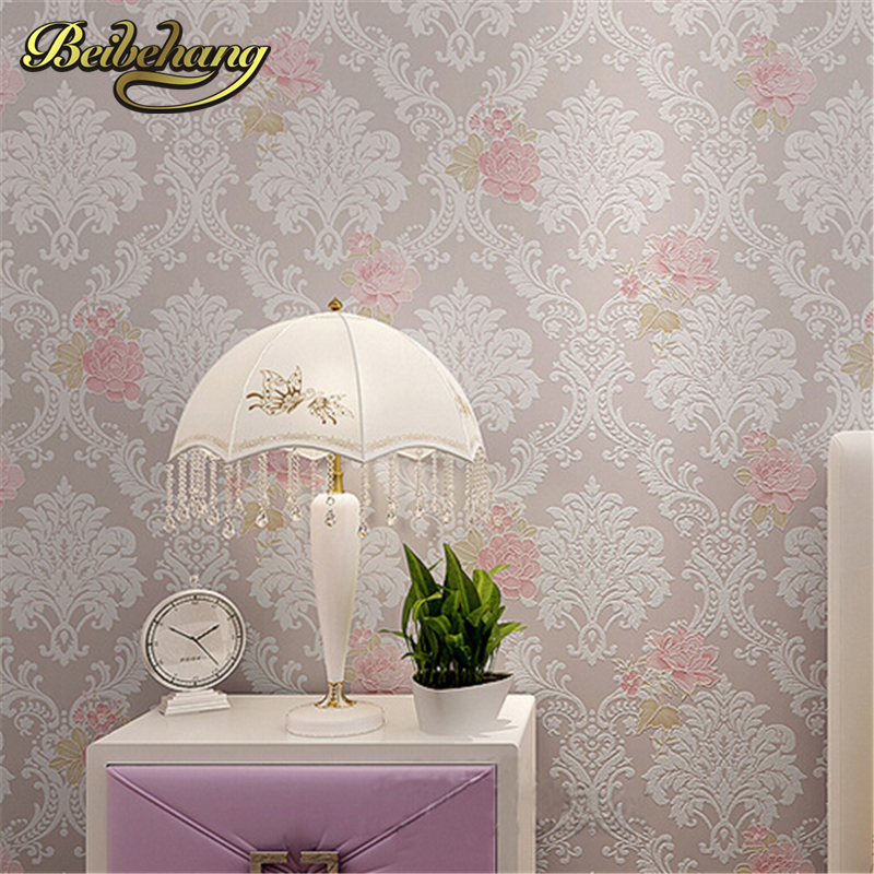 beibehang High quality Modern Luxury 3d wallpaper roll for wall flower papel de parede tapete for bedroom living room wallcoveri<br>