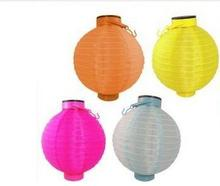 "Party Supplies    10"" Solar Powered Chinese Lantern Patio Garden Party Festival Decoration Yard LED light Wholesale 12pcs/lot"
