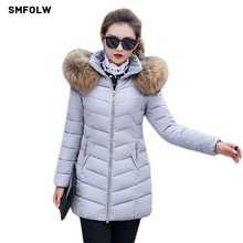 Buy winter jacket women 2017 fashion slim long cotton-padded Hooded jacket parka female wadded jacket outerwear winter coat women for $27.98 in AliExpress store