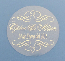 Wedding decoration kits 3 cm chair candy box favor bag personalised bubble bottle stickers labels envelope seals